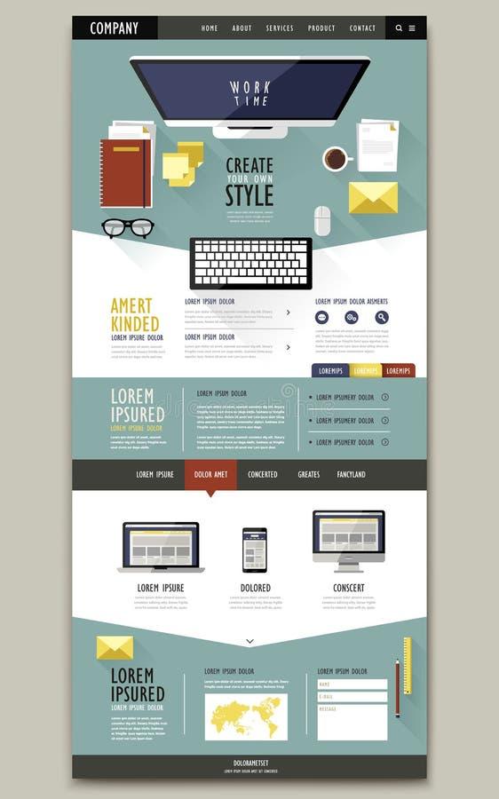 Mooie het malplaatjeontwerp van de paginawebsite vector illustratie