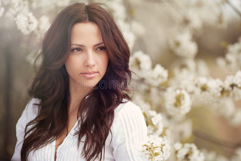 Mooie het portret dichte omhooggaand van het meisjesgezicht royalty-vrije stock afbeelding