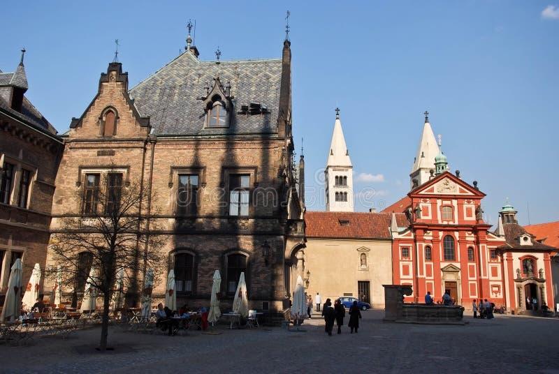 Mooie historische gebouwen Praag, Tsjechische Republiek royalty-vrije stock foto