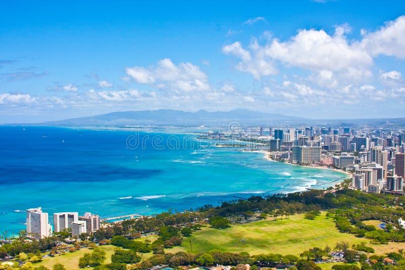 Mooie Horizon van Oahu, Hawaï stock foto