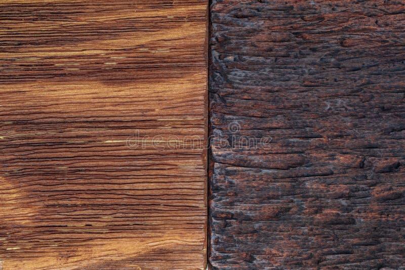 Mooie houten die achtergrond in lichte en donkere tonen wordt gecombineerd royalty-vrije stock fotografie