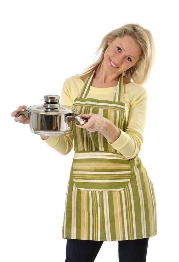 Mooie huisvrouw stock foto
