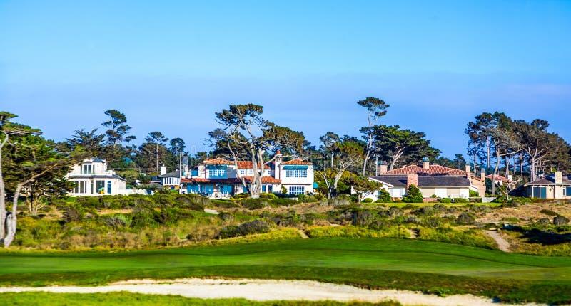 Mooie huizen dichtbij Pfeiffer royalty-vrije stock afbeelding