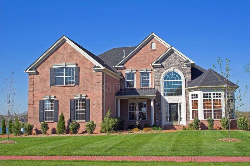 Mooie huizenreeks 1d stock afbeelding