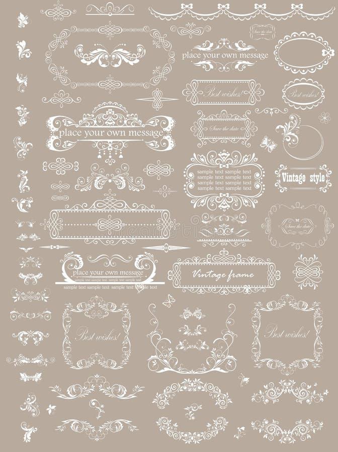 Mooie huwelijkskopballen royalty-vrije illustratie