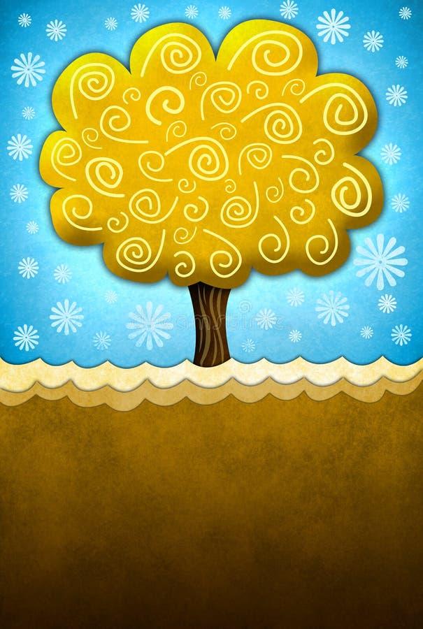 Mooie illustratie van een abstracte boom stock illustratie