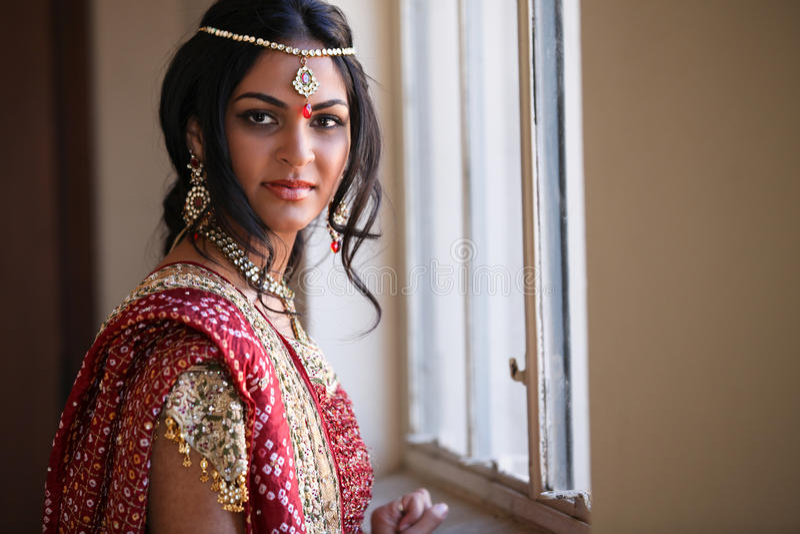 Mooie Indische Bruid royalty-vrije stock afbeelding