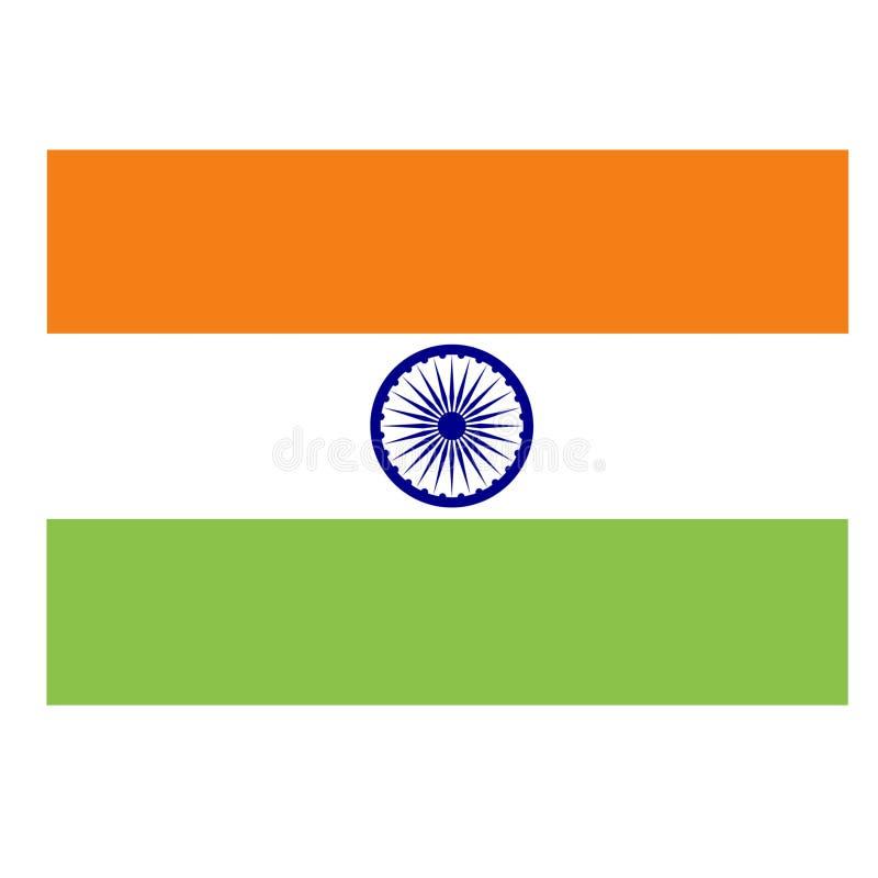 Mooie Indische tricolorvlag vector illustratie