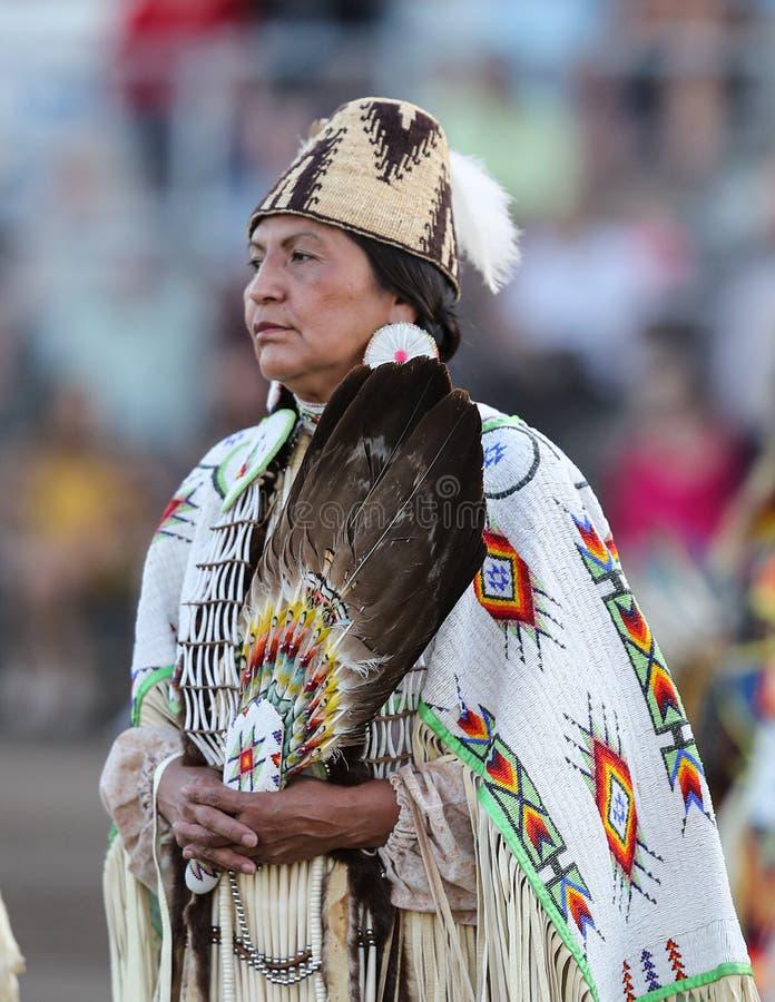 Mooie Inheemse Amerikaanse Vrouw stock foto's
