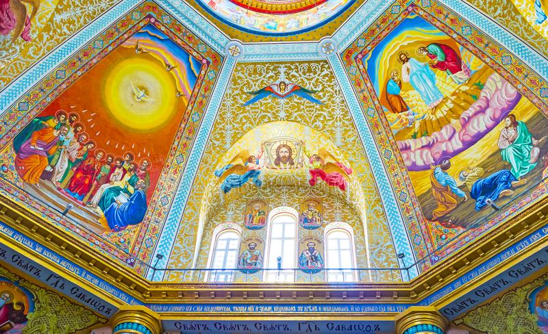 Mooie interion van Transfiguratiekathedraal royalty-vrije stock afbeeldingen
