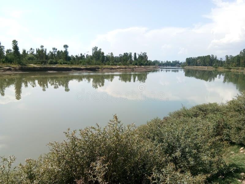 Mooie Jehlum-rivier stock foto's