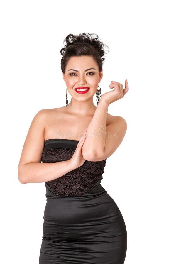 Mooie jonge Aziatische vrouw royalty-vrije stock afbeelding