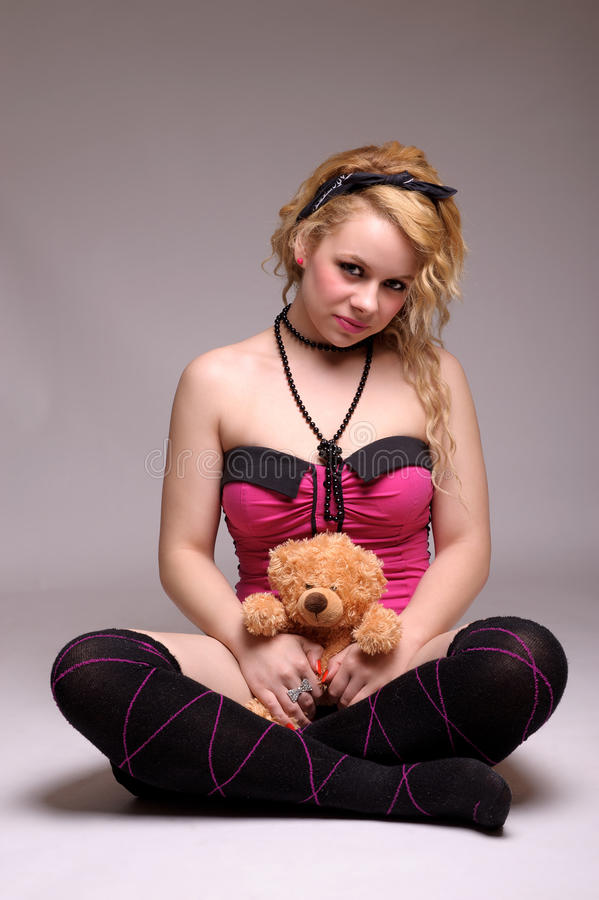 Mooie jonge blonde vrouw royalty-vrije stock fotografie