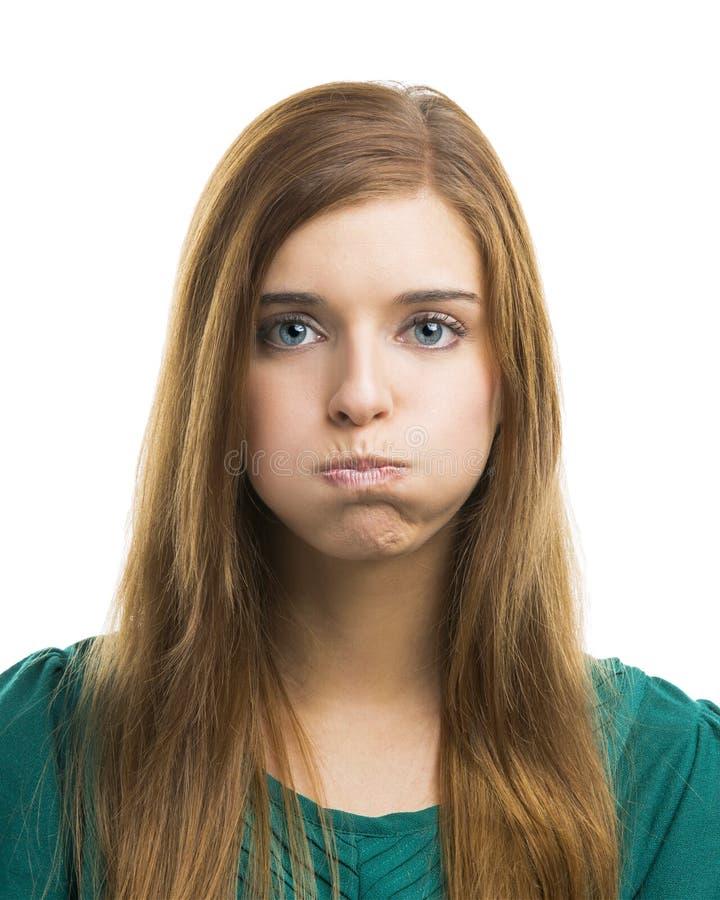 Mooie jonge bored vrouw stock fotografie