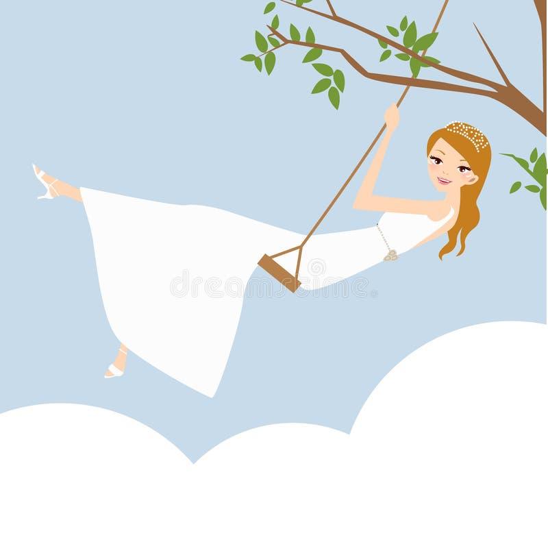 Mooie jonge bruid royalty-vrije illustratie