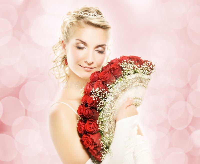 Mooie jonge bruid stock afbeeldingen