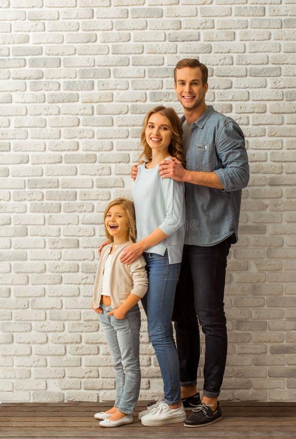 Mooie jonge familie royalty-vrije stock foto's