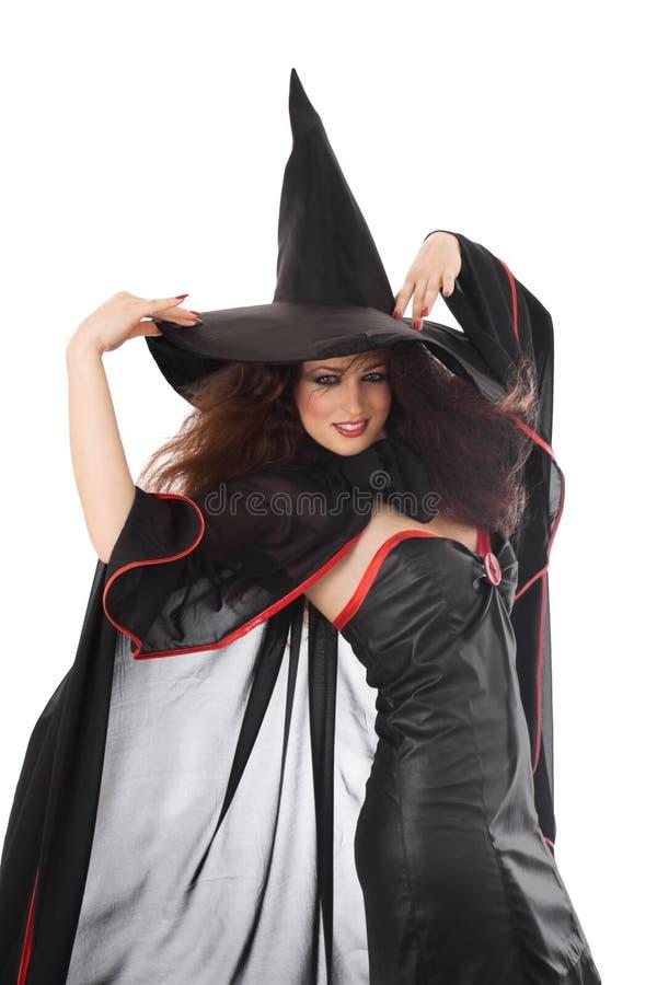 Mooie jonge heks voor Halloween stock fotografie