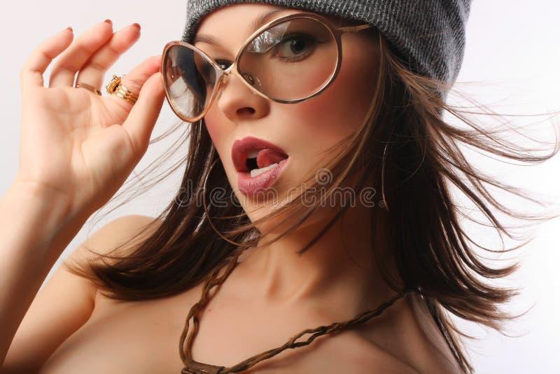 Mooie jonge sexy vrouw stock foto