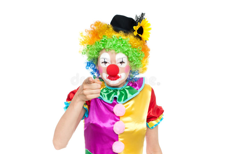 Mooie jonge vrouw als clown royalty-vrije stock fotografie