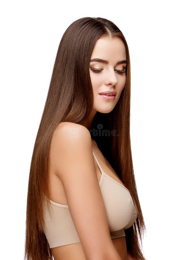Mooie jonge vrouw met schone verse huid royalty-vrije stock fotografie