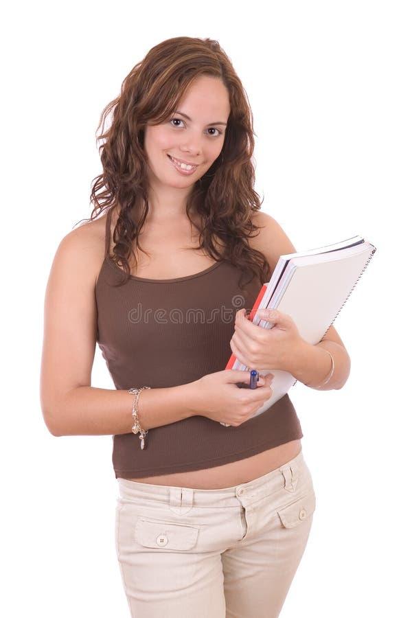 Mooie jonge vrouwelijke student stock fotografie