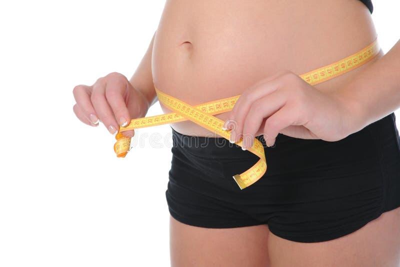 Mooie jonge zwangere vrouw stock foto