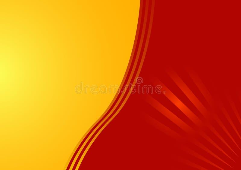 Mooie kaart in rood en geel vector illustratie