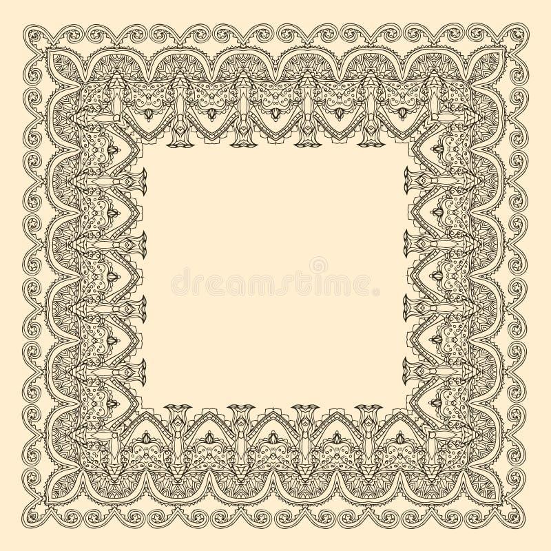 Mooie kaartvector royalty-vrije illustratie