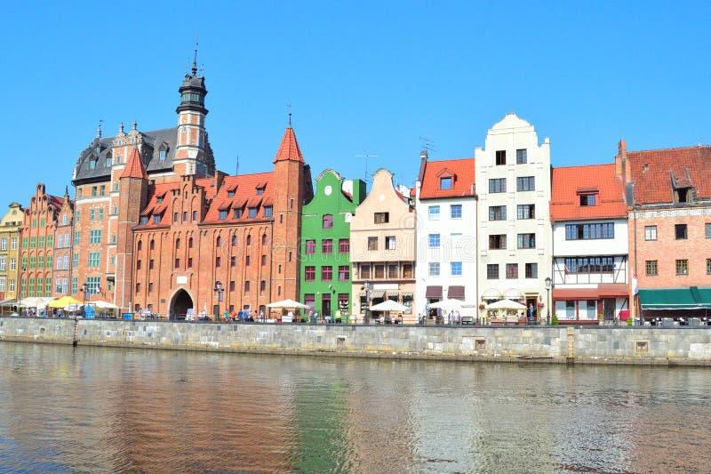 Mooie kade in Gdansk stock afbeeldingen