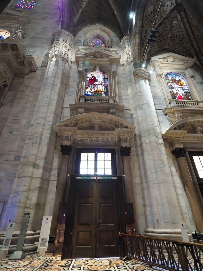 Mooie kathedraal in de stad van Milaan, Itali? stock afbeelding