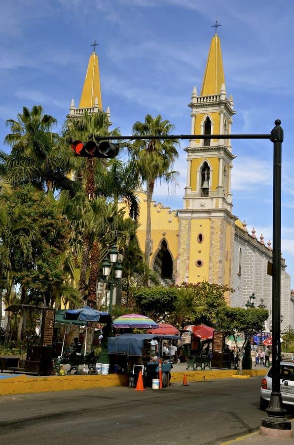 Mooie kathedraal Mazatlan van de binnenstad royalty-vrije stock fotografie