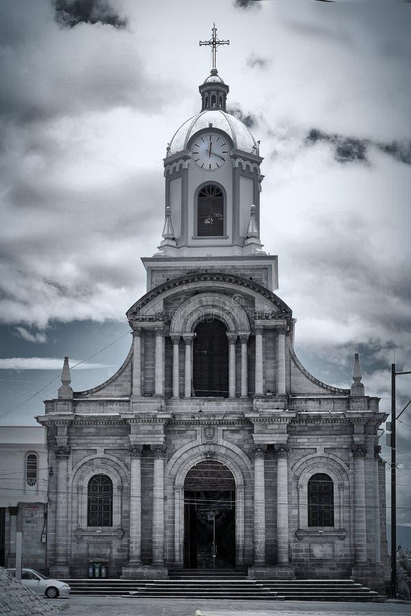 Mooie kerk in Riobamba, Ecuador royalty-vrije stock foto