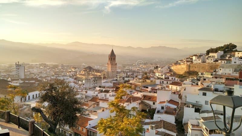 Mooie kerk in Vélez-Mà ¡ laga, Zuidelijk Spanje royalty-vrije stock foto