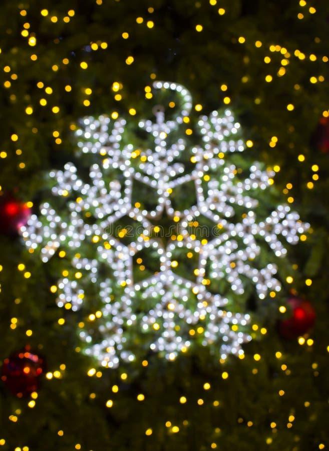Mooie Kerstmis defocused bokeh licht stock foto's