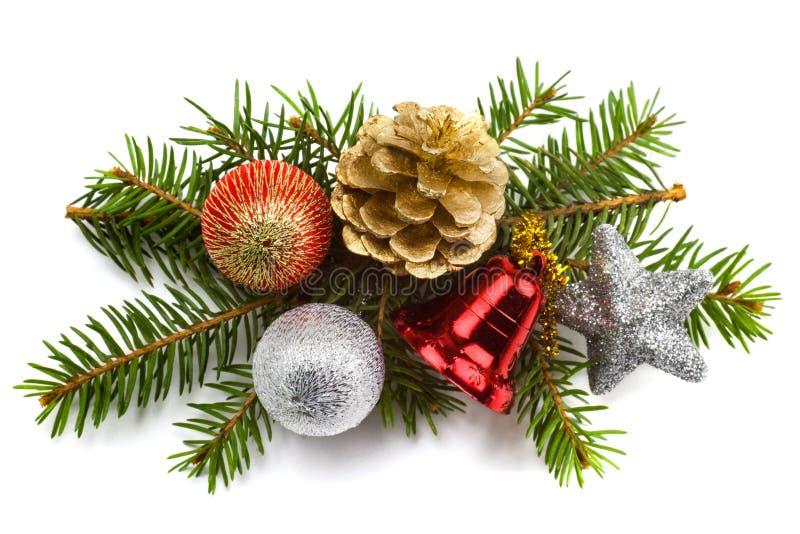 Mooie Kerstmis stelt geïsoleerd op witte achtergrond voor royalty-vrije stock afbeelding