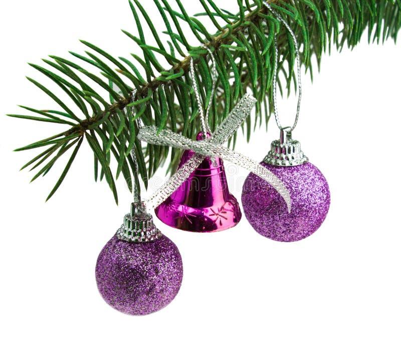 Mooie Kerstmis stelt geïsoleerd op witte achtergrond voor stock foto's