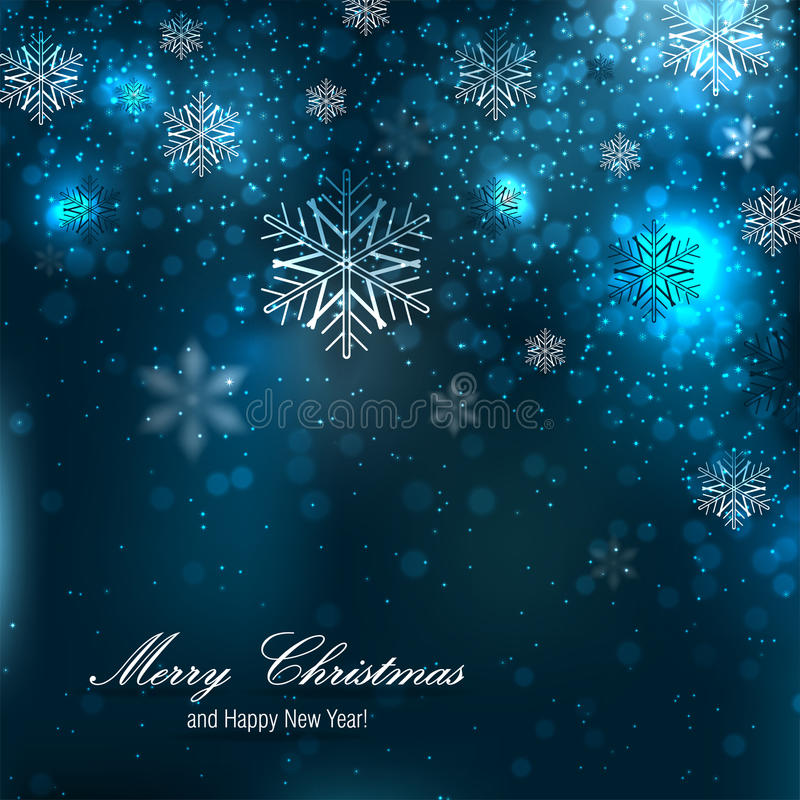 Mooie Kerstmisachtergrond met sneeuwvlokken vector illustratie