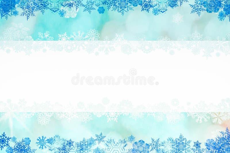 Mooie Kerstmisachtergrond met sneeuwvlokken en plaats voor tekst vector illustratie
