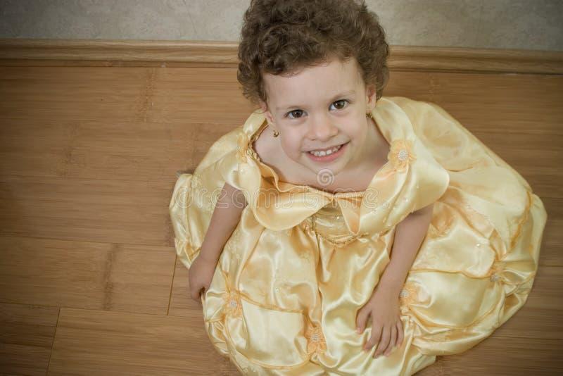 Mooie kindprinses royalty-vrije stock afbeelding