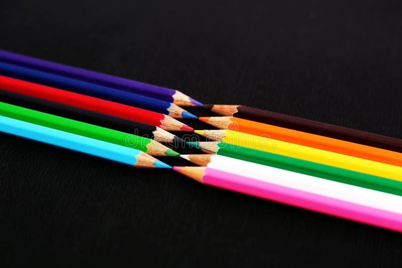 Mooie kleurpotloden stock foto