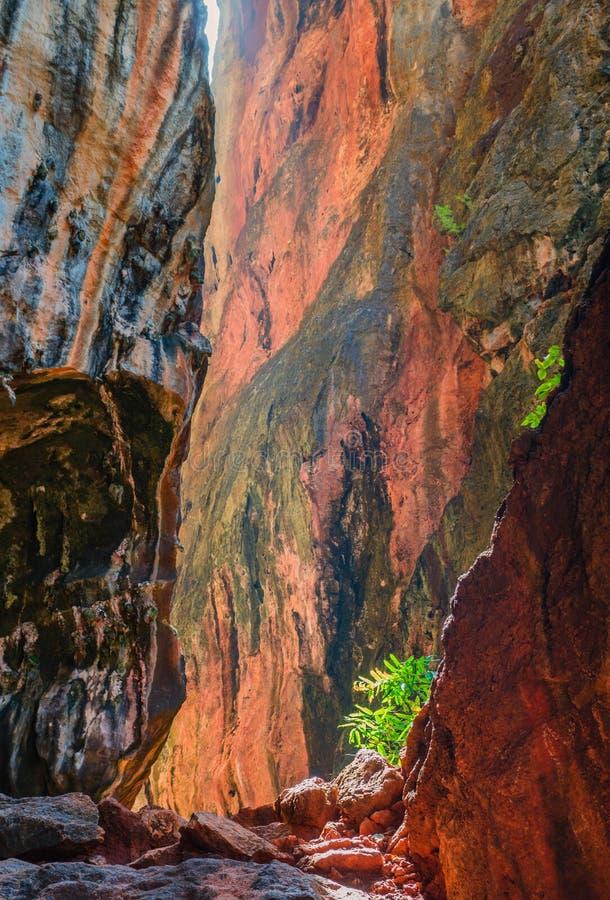 Mooie kleurrijke canion royalty-vrije stock afbeeldingen
