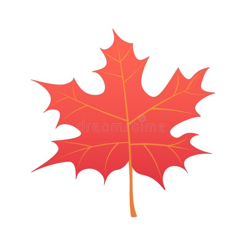 Mooie kleurrijke de herfstbladeren van de inzameling die op witte achtergrond worden geïsoleerds Illustratie stock illustratie