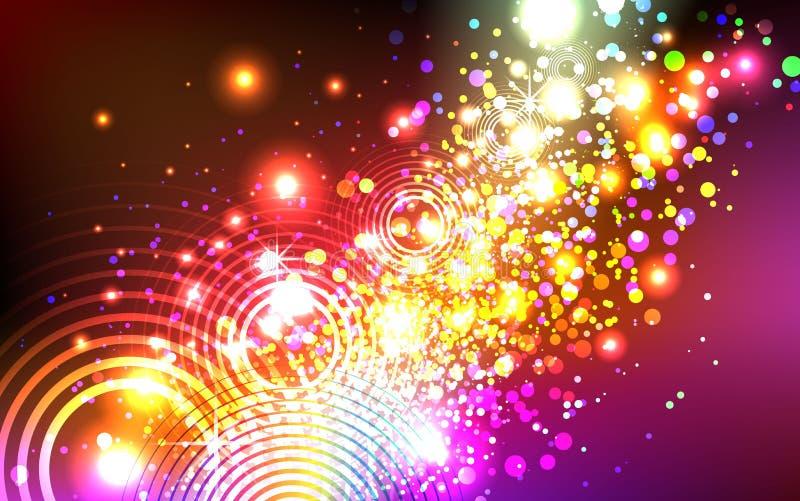 Mooie kleurrijke explosie stock illustratie
