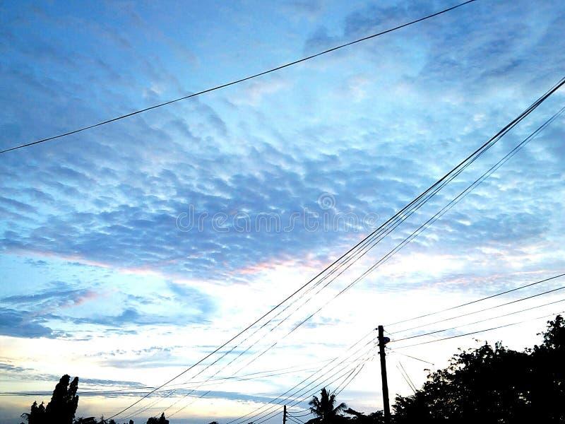 Mooie Kleurrijke Hemel stock afbeeldingen
