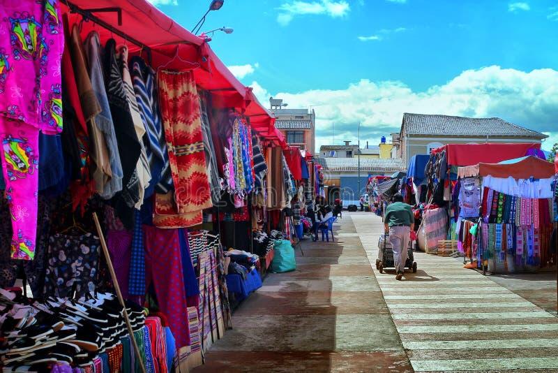 Mooie kleurrijke markt royalty-vrije stock afbeeldingen