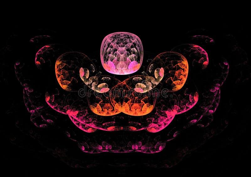 Mooie kleurrijke ruimtefractal van het ballons abstracte ontwerp samenstelling stock foto's