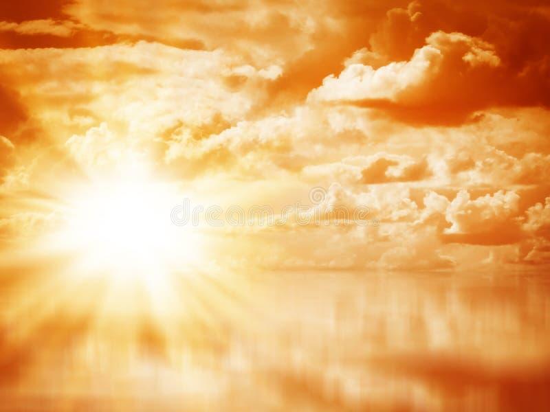 Mooie kleurrijke zonsopgang royalty-vrije stock afbeelding