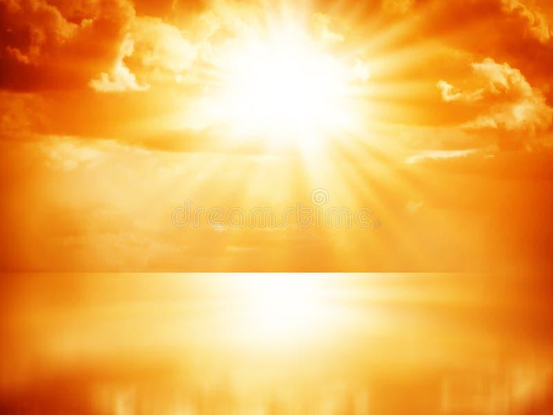 Mooie kleurrijke zonsopgang royalty-vrije stock foto