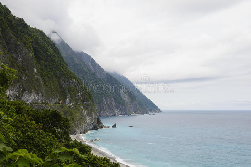 Mooie klip in Hualien royalty-vrije stock fotografie